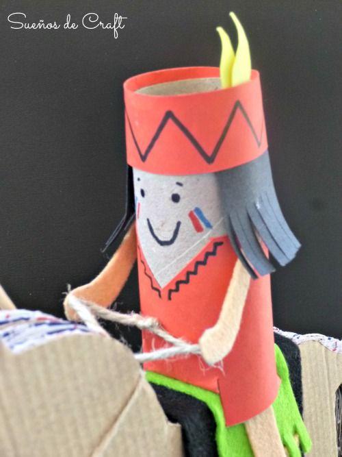 Caballo carton rollo papel higienico manualidad indio - Manualidades con rollos de papel higienico para navidad ...