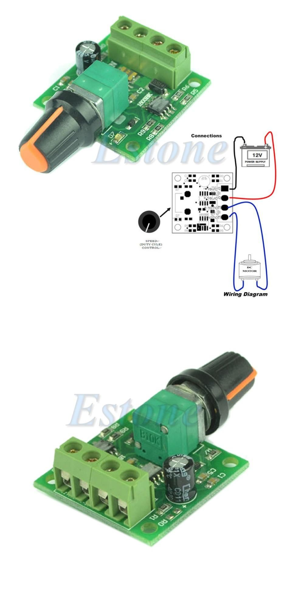 Visit To Buy Dc 18v 3v 5v 6v 12v 2a Low Voltage Motor Speed Controller Circuit Electronic How Connect The