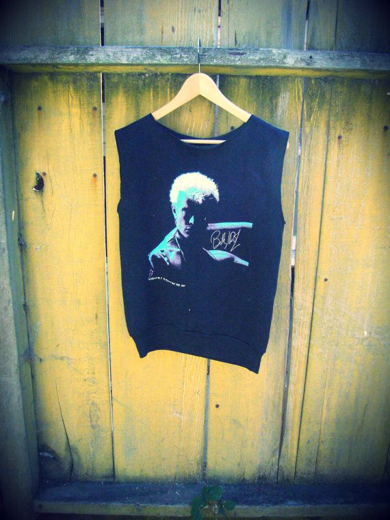 1983 Billy Idol Concert Muscle Tee Shirt Sweat Tank