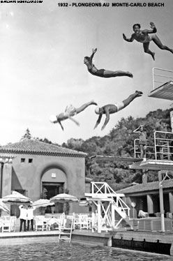 Monte Carlo Beach Historical Image Of Divers From 1932 Beach Hotels Beach Monte Carlo
