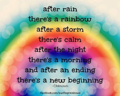 Colors Of The Rainbow After Rainbow Quote New Beginning Quotes Beginning Quotes