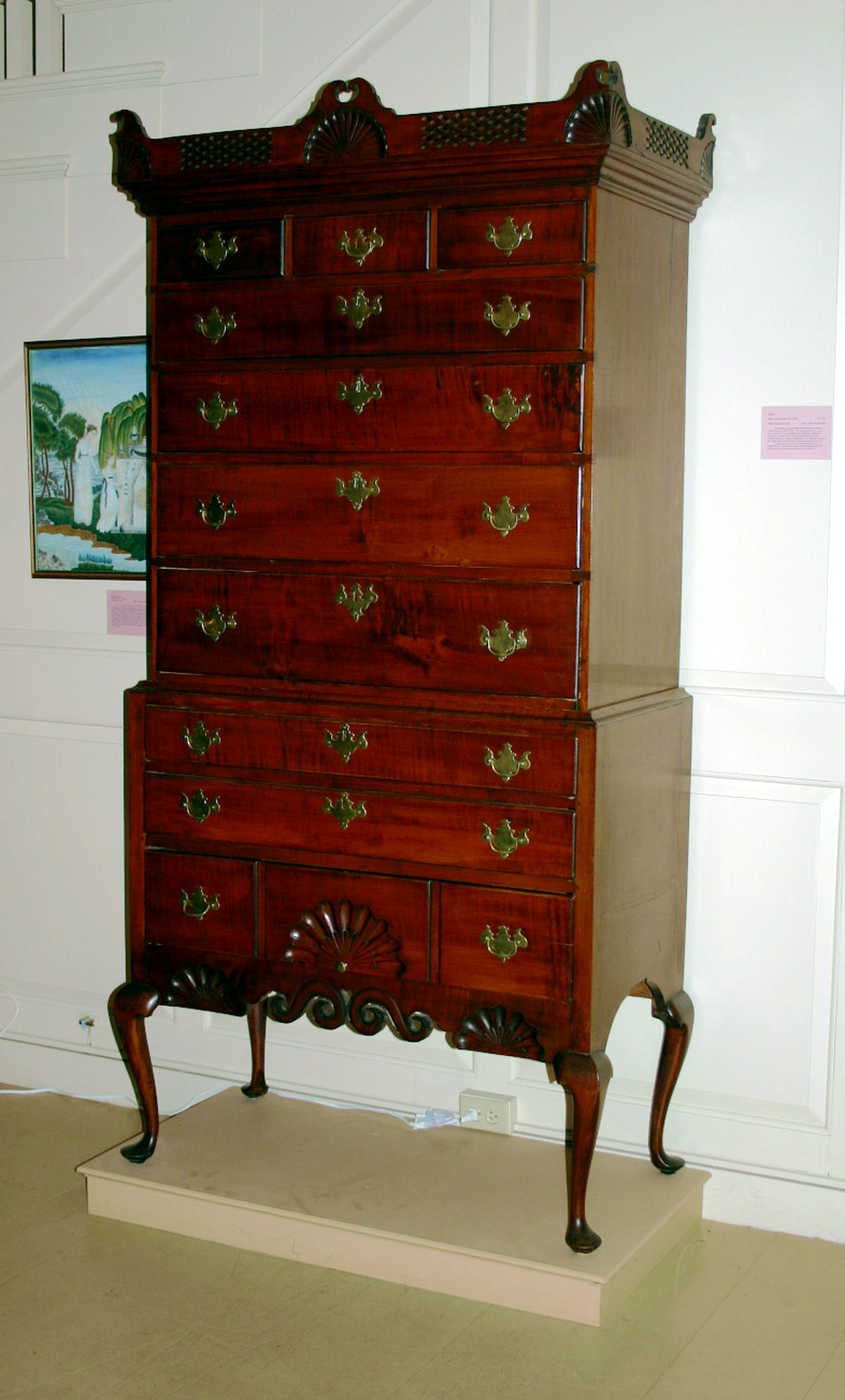 This Dunlap High Chest Built In The Late 18th Century Is A Very Fine  Example Of