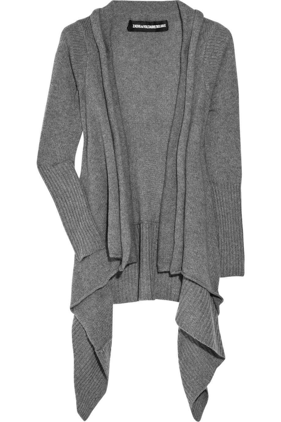 Zadig & Voltaire|Draped cashmere cardigan|NET-A-PORTER.COM
