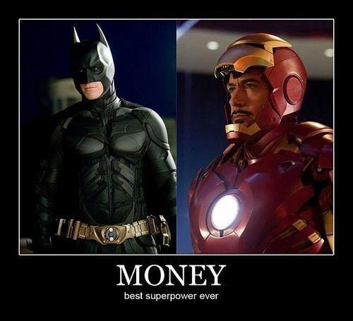 Money Best Superpower Ever Superheroes Funny Super Powers Superhero