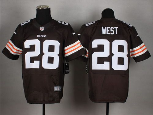 nike cleveland browns 28 terrance west brown elite jersey