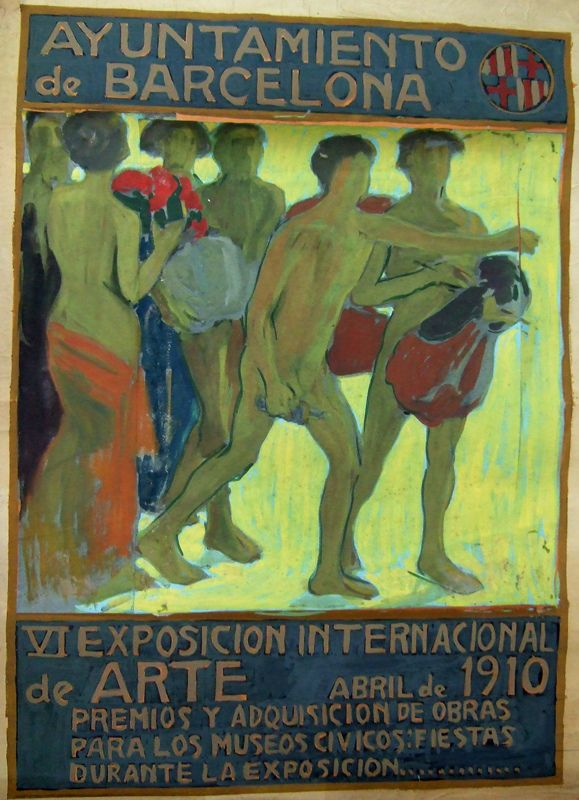 https://flic.kr/p/ei5BkC | Baldomer Gili Roig. VI Exposición Internacional de Arte, 1910 | Guaix sobre cartolina adherida a una segona cartolina 129 x 91,5 cm  Donació Llegat Dolors Moros, 2010 Museu d'Art Jaume Morera, Lleida. 3393