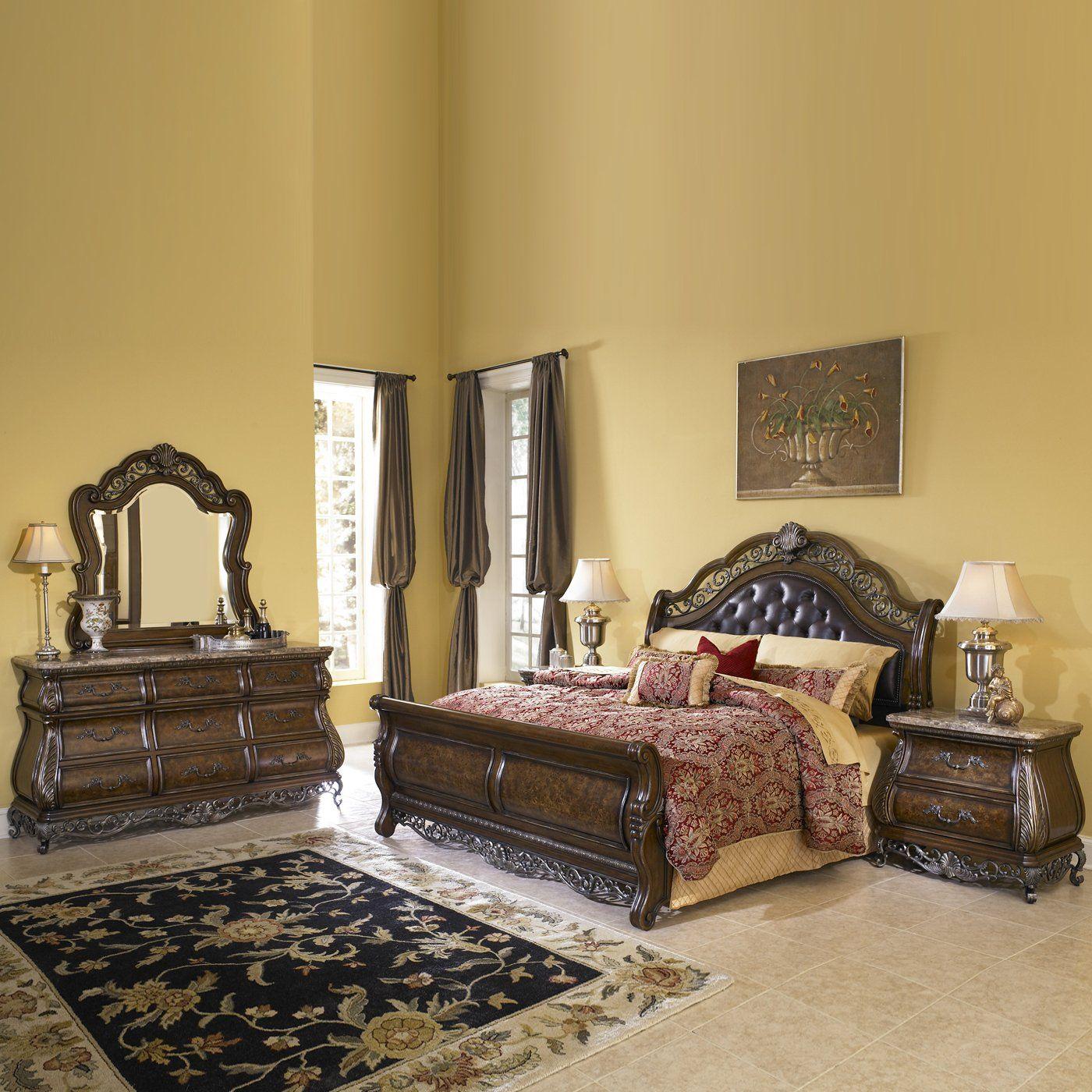 Pulaski furniture sleigh bedroom set birkhaven master suite