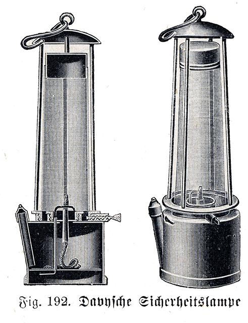Davy Tests His Safety Lamp For Mining Image Is Of A Davy Lamp From Bibliothek Allgemeinen Und Praktischen Wissens Fur Militaran Lamp Humphry Davy Modern Lamp