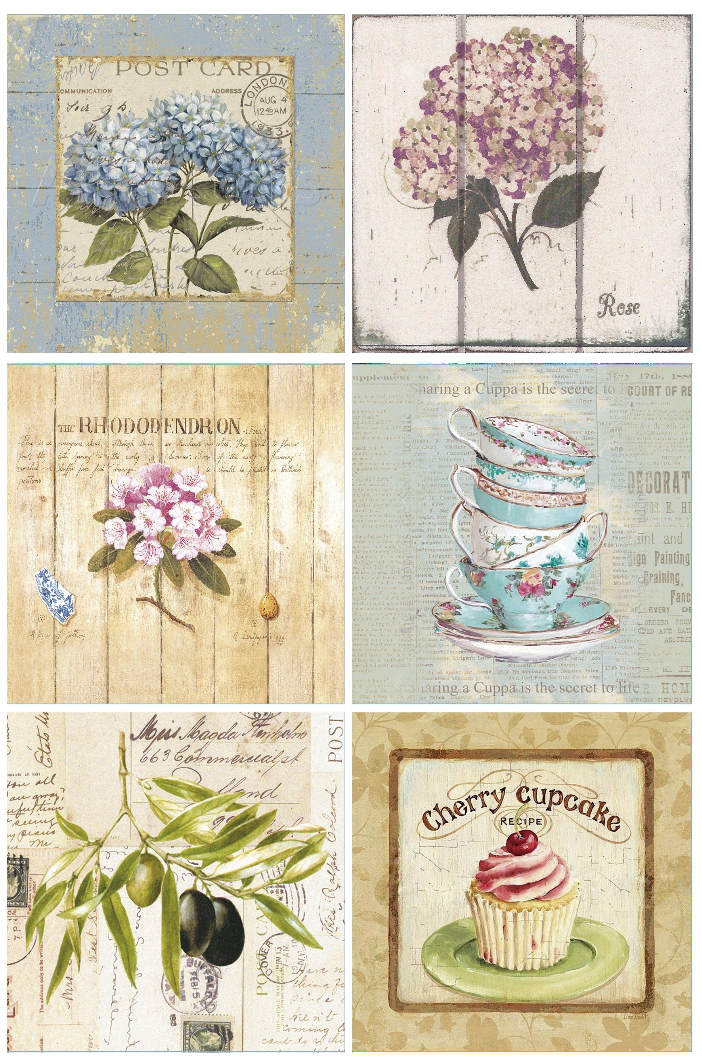 Laminas decoupage 15x15 caroline pinterest imprimir - Laminas decorativas vintage ...
