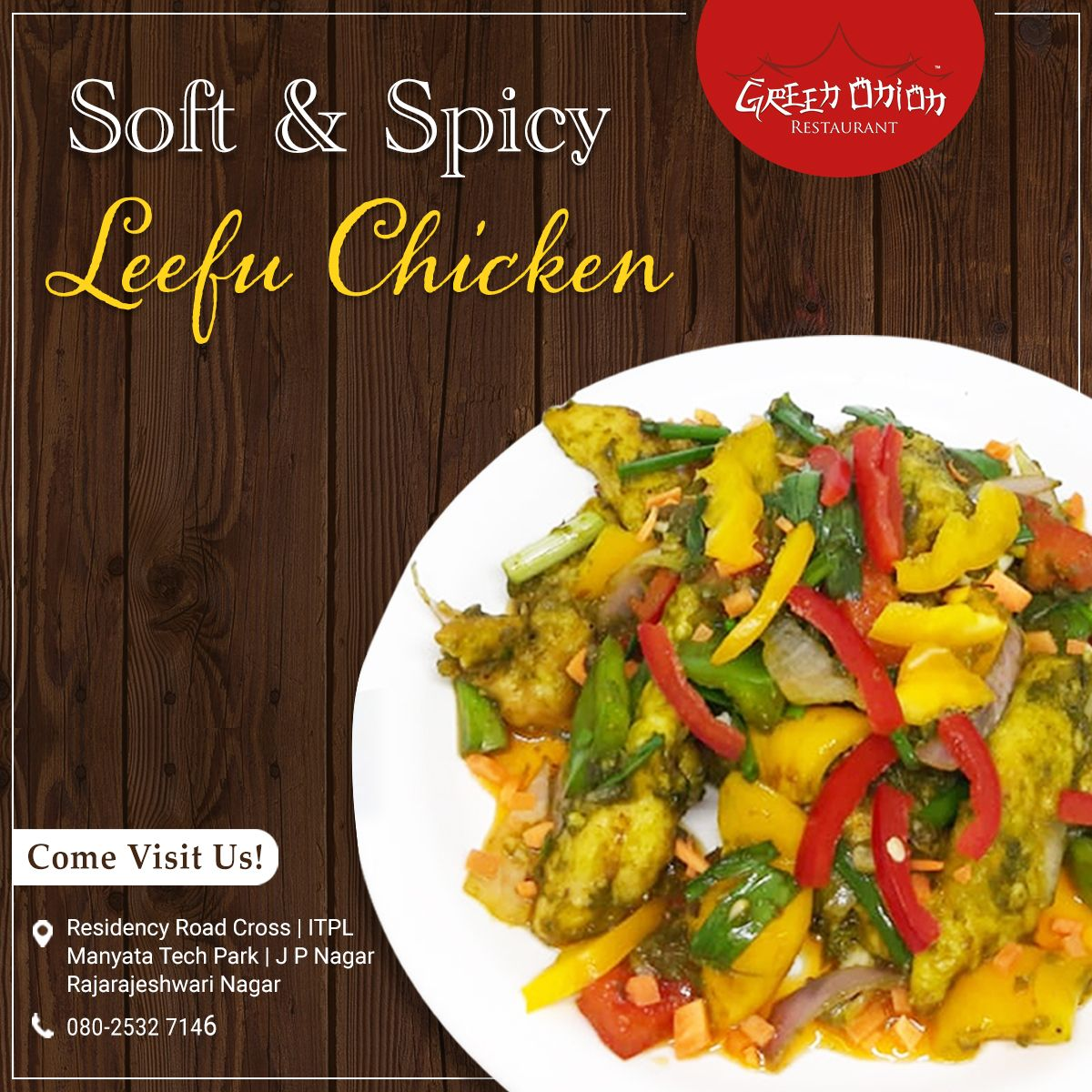 Try The Most Appetizing Leefu Chicken From Green Onion And Relish Its Peculiar Flavours Visit Green Onion Chinese Restaurant N Chinese Restaurant Cuisine Food