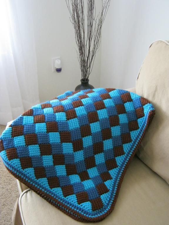 Beautiful baby blanket! Tunisian Afghan using Entrelac technique ...