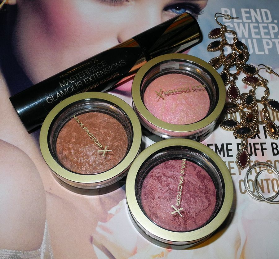 Max Factor Creme Puff Blushes Review  and Swatches #cremepuff