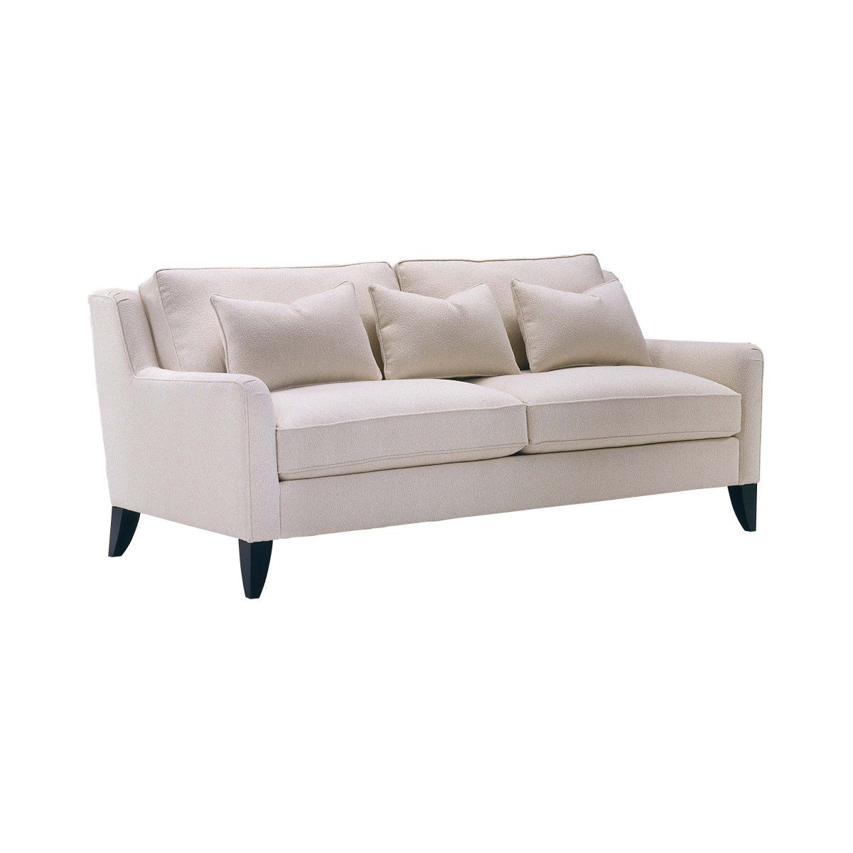 Lazar Retro Bellisimo White Fabric Sofa