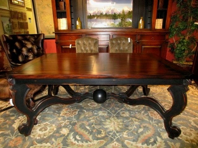 The Pompadour dining table from Steven Shell in a vintage ...