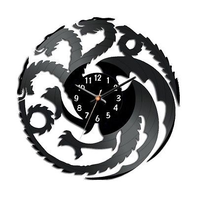Game Of Thrones House Targaryen Wall Clock Vinyl Record Watch 12inch With Images Clock Vinyl Record Clock Vinyl