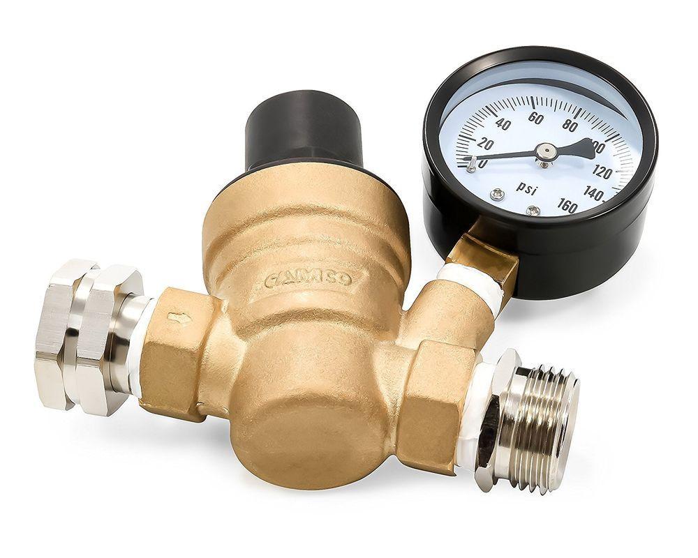 Pressure Washer Pre Hose Valve 50 Adjustable Regulators Heavy Duty R 40058 Brass Camco Adjustablebrassregulatorwgauge