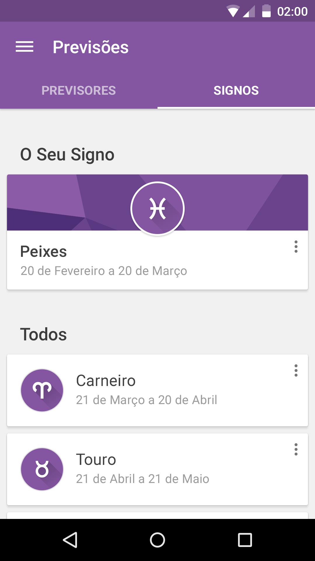 SAPO Astral - Signs – Mobile app by Hugo França