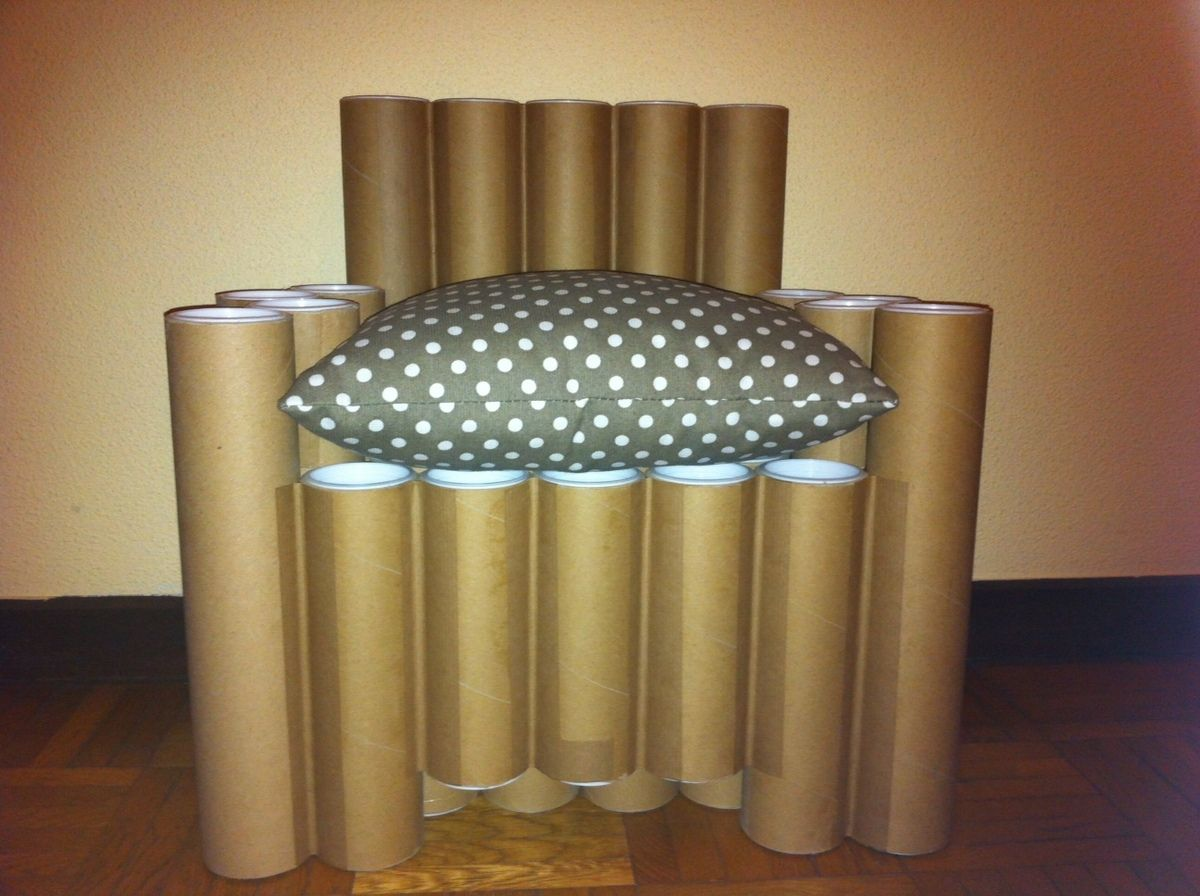 Image De Meuble En Carton fauteuil en tube de carton | chaise en carton, tube carton