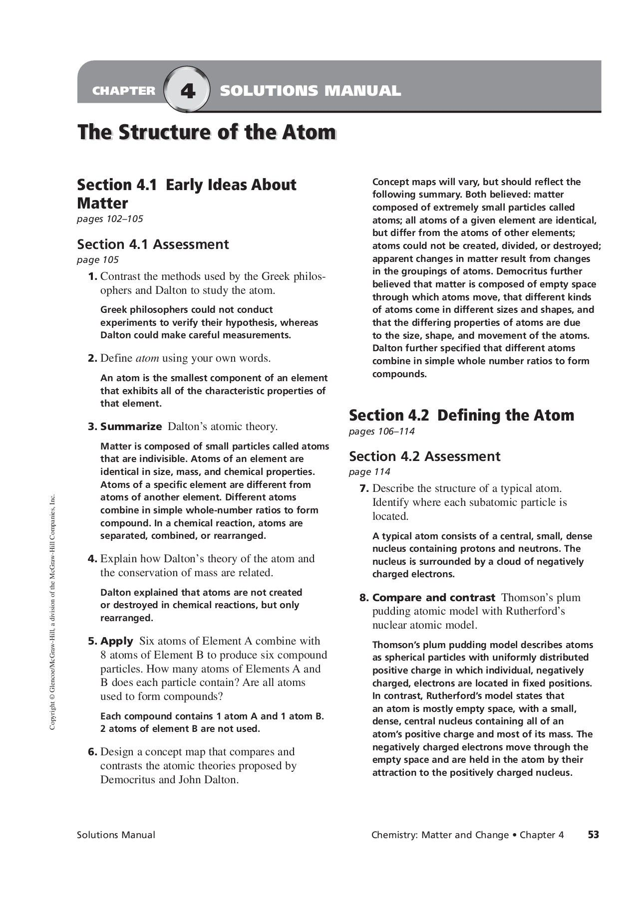 Copyright Glencoe Mcgraw Hill A Division Of The Mcgraw