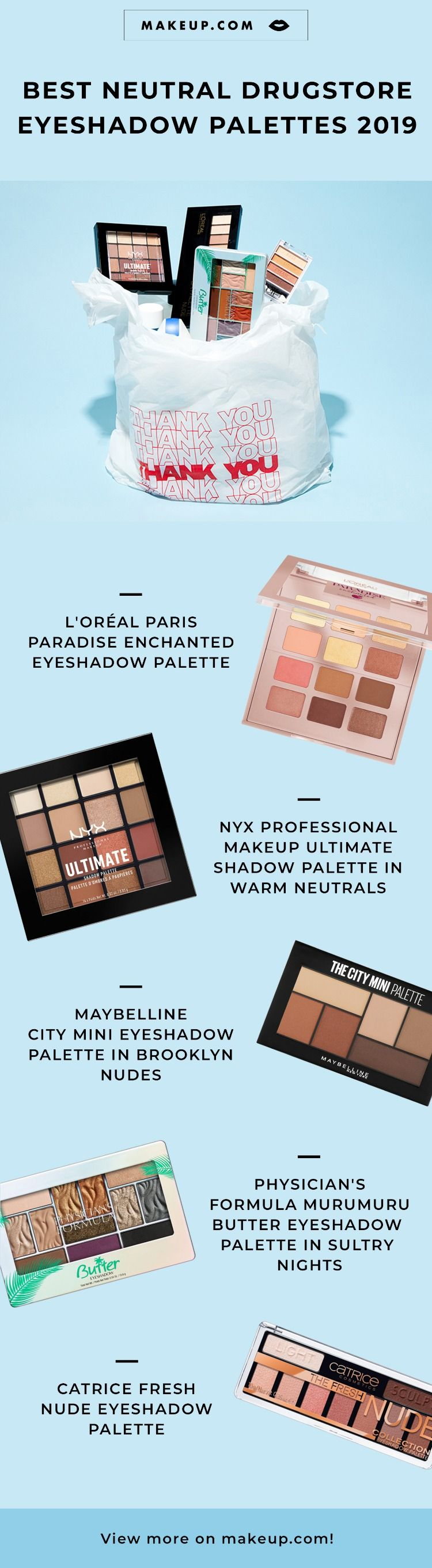 7 Neutral Eyeshadow Palettes to Pick Up from the Drugstore