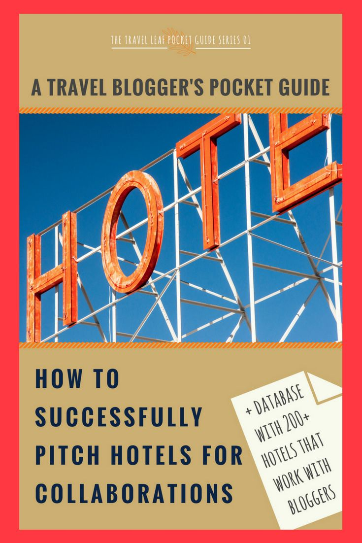 A 2020 Guide How To Successfully Pitch Hotels & Database