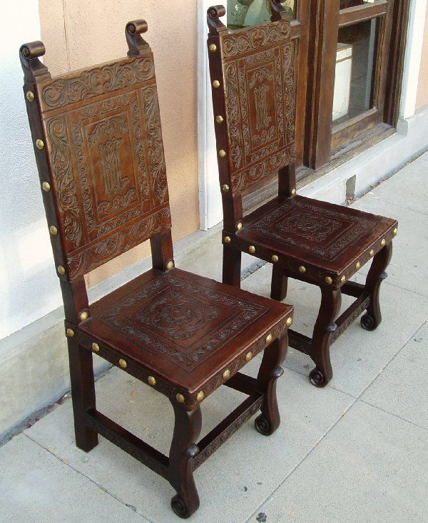 Renaissance Architectural Renaissance Chairs Spanish Colonial Revival Chairs Carving