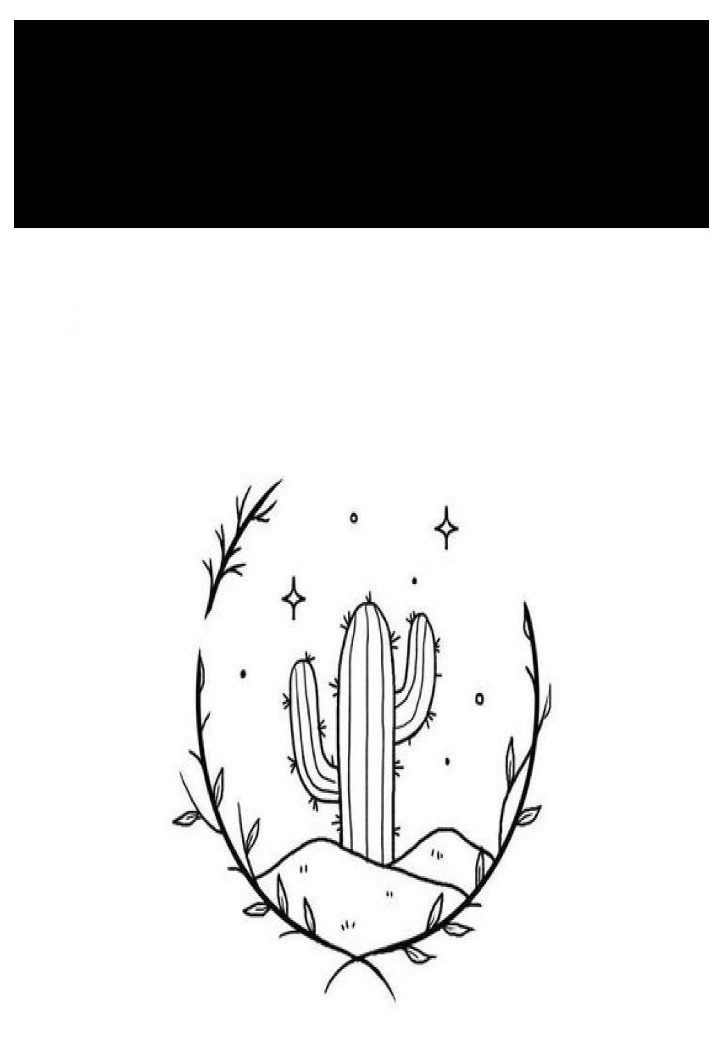 cactus drawing simple