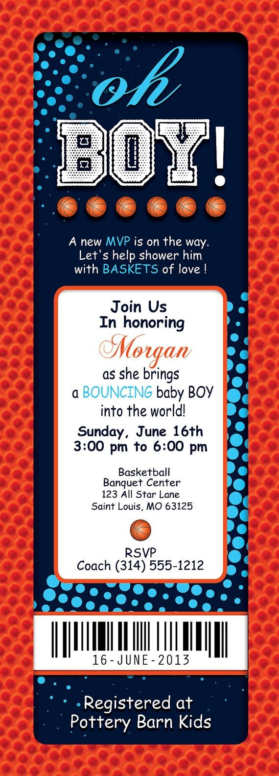 Basketball baby shower sign in ball Baby Showers by Chloe Cook