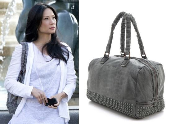 Elementary season 2, episode 1: Joan Watson's (Lucy Liu) Liebskind Lioba Stainy Studs Bag/purse #getthelook #elementary #joanwatson #liebskind