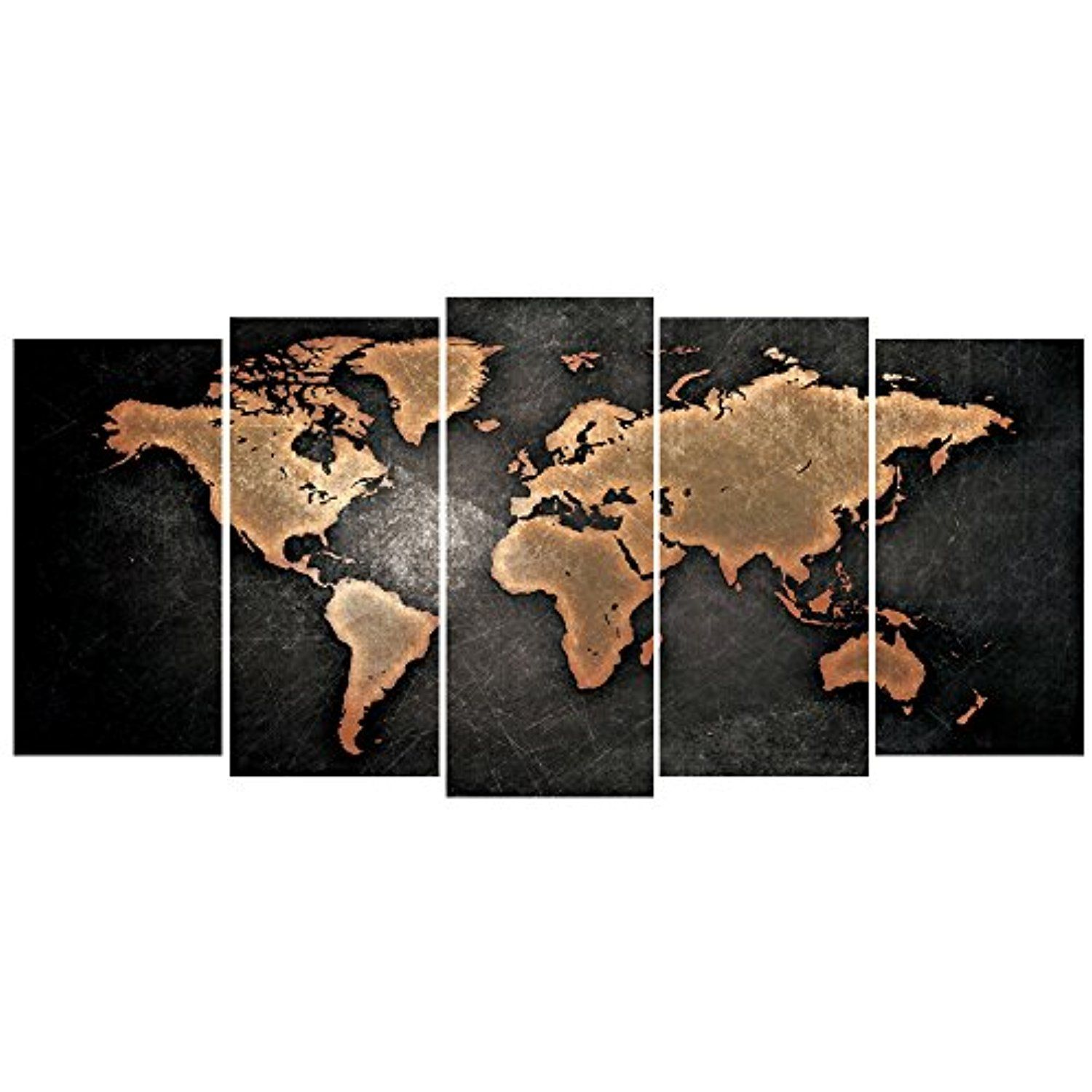 Geves 5 pcsset modern abstract wall art painting world map canvas geves 5 pcsset modern abstract wall art painting world map canvas painting for living gumiabroncs Choice Image