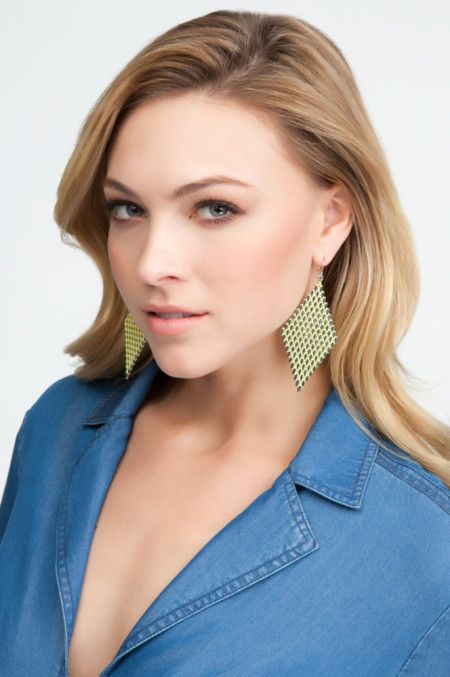 Woven String Tiered Earring 2