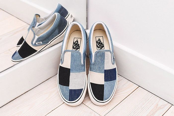 Vans' Classic Slip-On Does it in Denim | Leather shoes woman ...