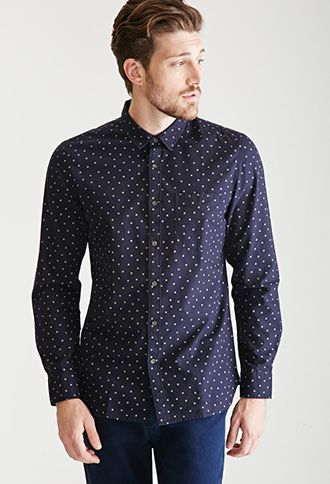 f67ee322fec Polka Dot Collared Shirt | 21 MEN - 2000099561 | Stuff to Buy ...