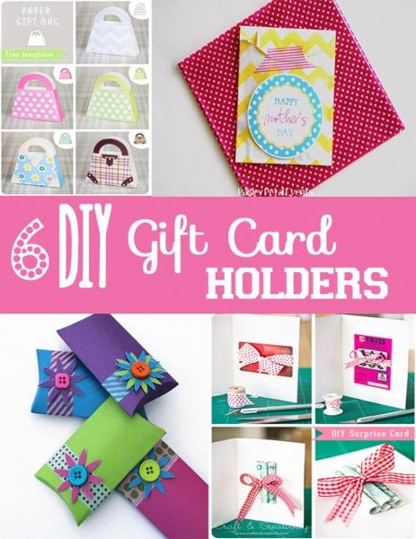 DIY Gift Card Holders 6 Different Designs This Could Be A Fun Get Read For Holidays Craft Morning