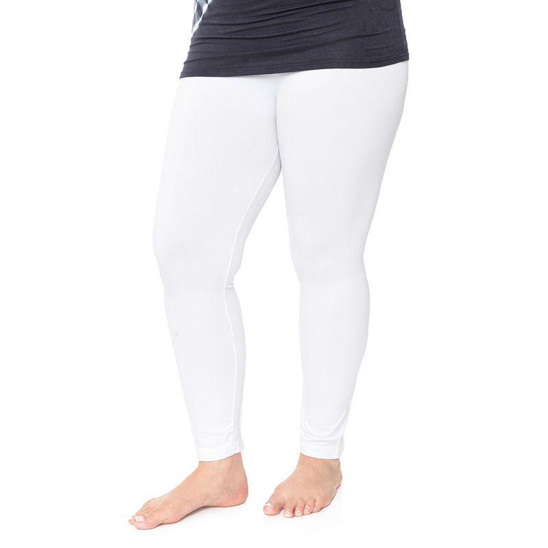 223923f5740 Plus Size White Mark Solid Leggings