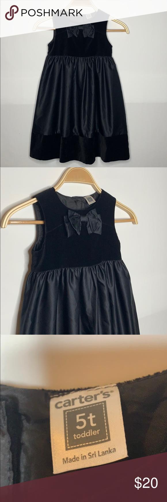 Girls Carter Black Dress Size 5t Girls Black Dress Dresses Black Dress [ 1740 x 580 Pixel ]
