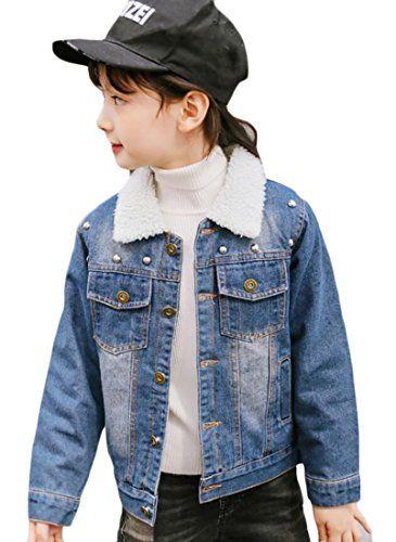 5d0864fd91f GenericBaby Generic Little Girl Lap Buttons Pocket Slim Fit Thicken Warm Denim  Jacket