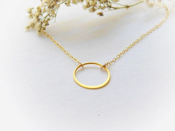 Delicate chain necklace karma necklace gift for her simple karma crculos gold necklace aloadofball Images