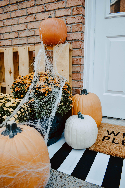 Diy Halloween Door Mat Front Porch Halloween Porch
