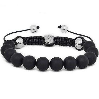 Hidden Gems BWB46 - Noir perle Wrap Bracelet: Amazon.fr: Bijoux