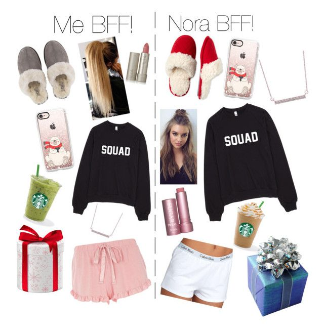 """""""Christmas Sleepover"""" by bayonne on Polyvore featuring interior, interiors, interior design, home, home decor, interior decorating, Casetify, UGG, Dearfoams and Calvin Klein"""