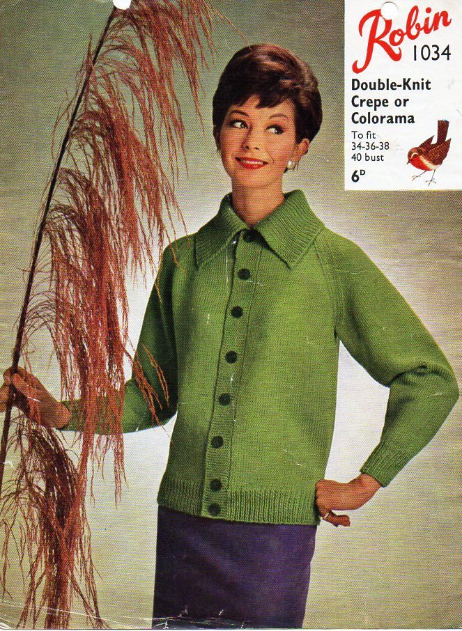 e61e9b0cd Vintage womens cardigan knitting pattern pdf ladies jacket with ...