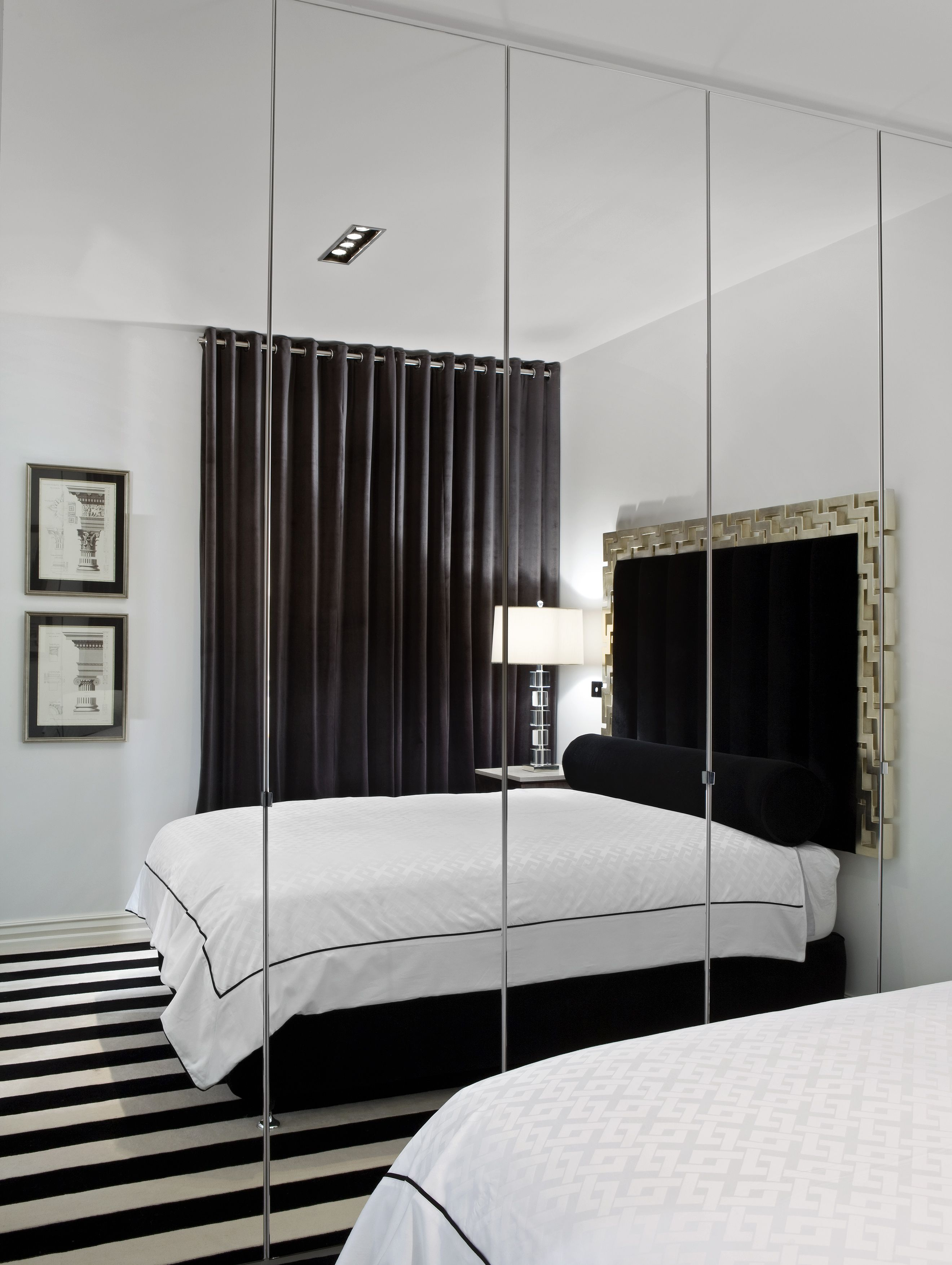 Mirror nightstands contemporary bedroom kimberley seldon design - Contemporary Bedroom By Jado Decor Pty Ltd Floor To Ceiling Mirrored Closet Doors Make A Small Bedroom Appear Much Larger