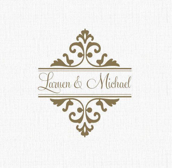 Traditional Wedding Logo Fairytale Wedding Logo By Onefinesoiree