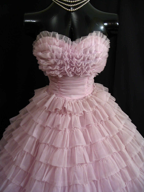 Lilac Vintage Gown 1950's VintageVortex dress fashion