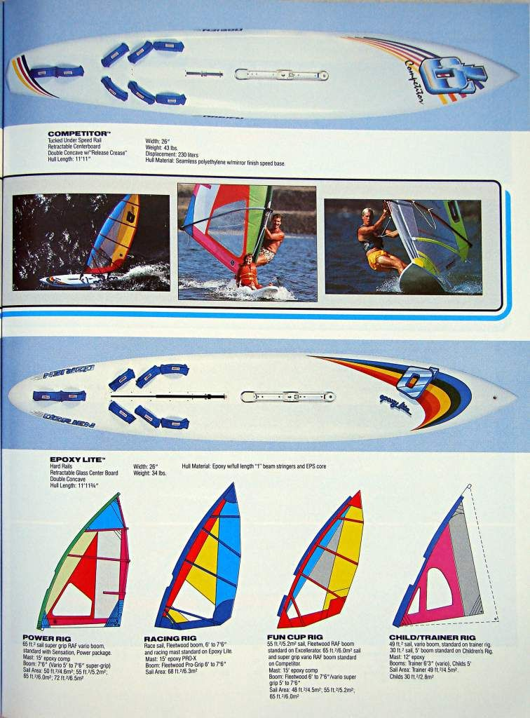 O'BRIEN windsurfing 1986 | Windsurfing, Surfing, Sup surf