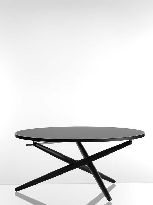 The 'ess.tee.tisch' is the acronym for eat and tea table and implies also 'est'hetic. The table is adjustable (7 different positions). Therefore, it can be used as dining and coffee/tea table. Jürg Bally produced the model until 1954, later to approx. 1968 the Werkgenossenschaft Wohnhilfe Zurich, Switzerland.