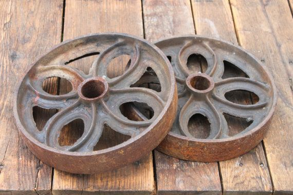 Antique Pair Of Large 12 Quot Industrial Cart Wheels Lineberry Cart Industrial Decor Industrial Cart Industrial Decor Antiques
