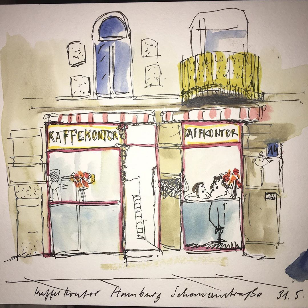 Kaffee In Hamburg 5 19 Urbansketcher Aquarell Urbansketching