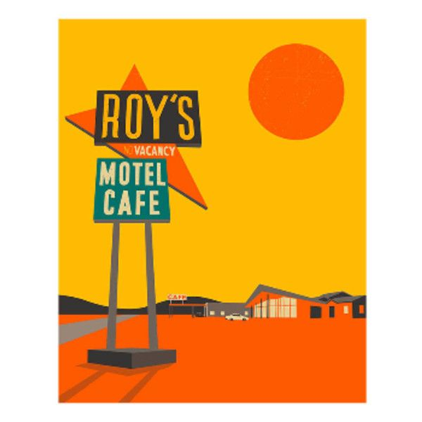 Roy\'s Cafe A1 Framed Print ($155) ❤ liked on Polyvore featuring ...